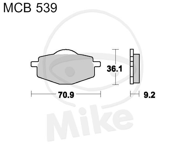 TRW Lucas Brake Pads mcb740si TRW-LUCAS