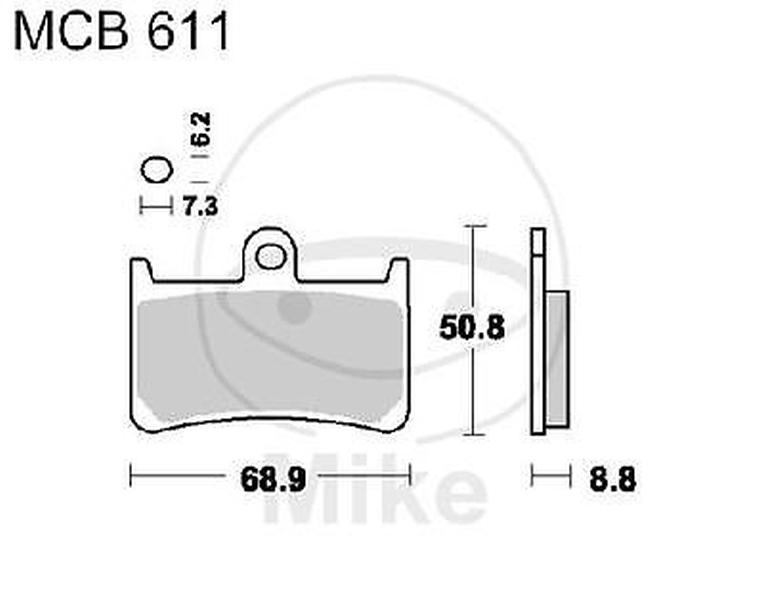 Yamaha YZF-R6 600 N LUCAS Bremsbeläge MCB 611 SV MCB611SV