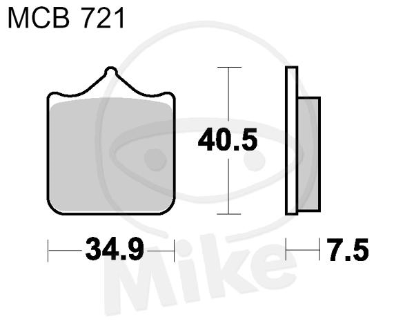 Bremsbeläge  Lucas TRW MCB672SI
