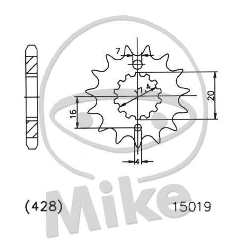 Esjot Rear Sprocket 49T 428P Steel MZ//MUZ RT 125 2000-2008