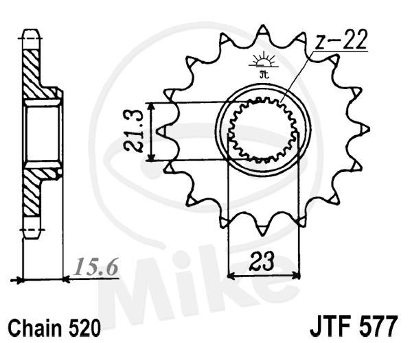 JT sprockets 14 tooth pitch 520 Yamaha XT 600 Z Tenere