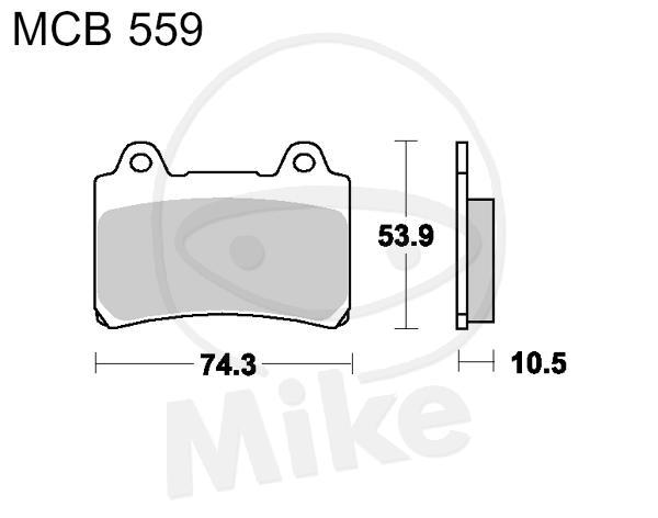 TRW Lucas brake pads MCB559 back Yamaha XVZ 1300 TF Royal