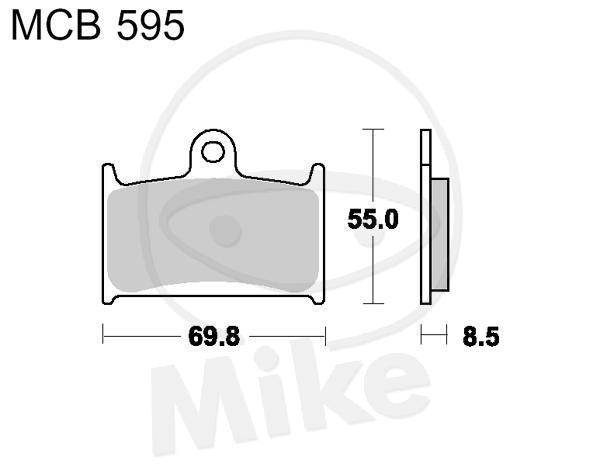 TRW Lucas Brake Pads MCB595 Front Triumph Speed Triple 900
