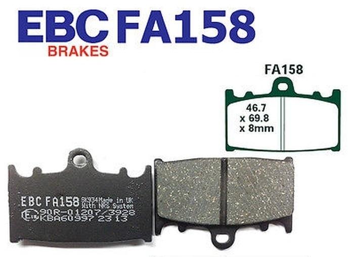 Front Brake Pads For GSXR250 RGV250 GSXR 650//750 GSF1200 GSX1250 SV1000 FA158