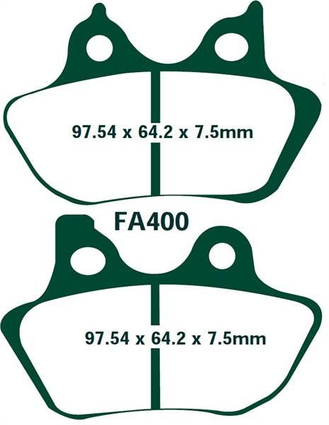 EBC Bremsbeläge FA400 VORN HARLEY DAVIDSON FXSTBi Night Train Softail 06-07