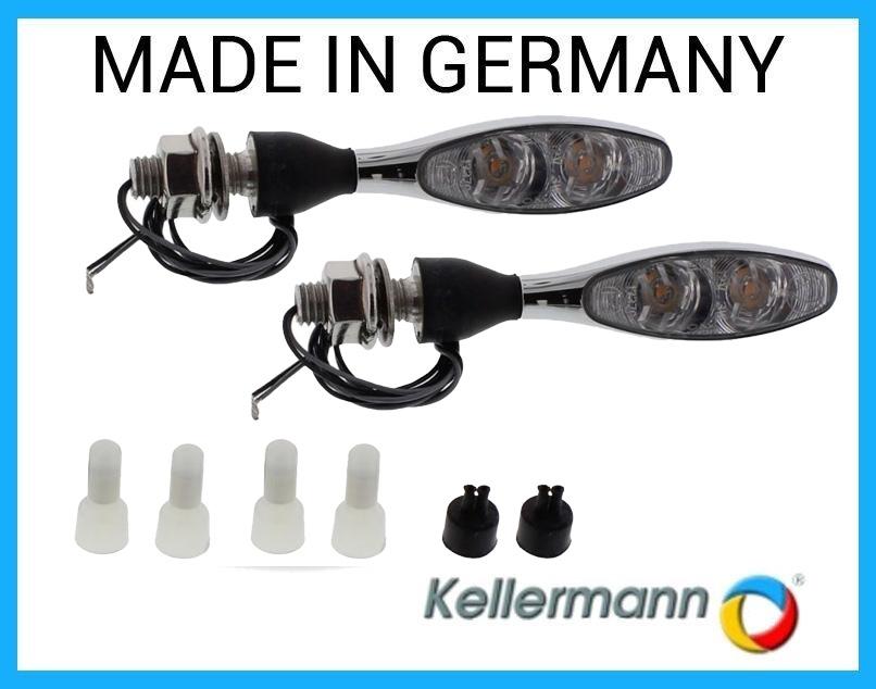 PAAR Kellermann LED Blinker Schwarz micro 1000 DF 140.200 Glas KLAR