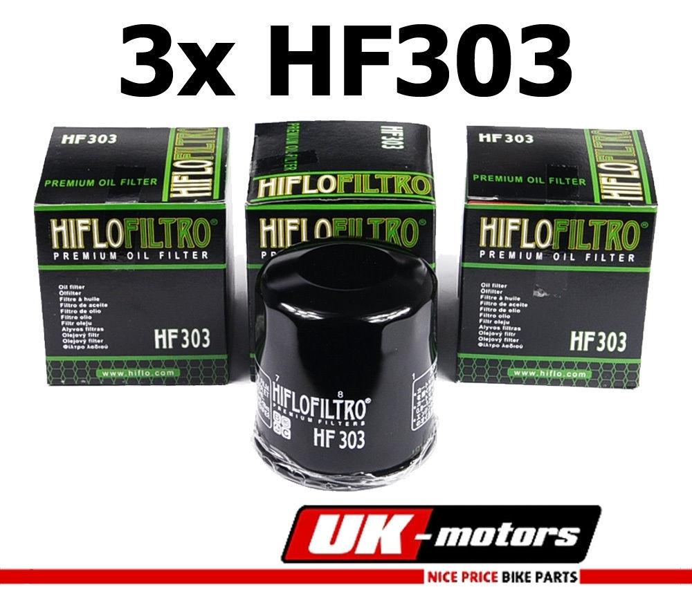 3x Hiflo Ölfilter HF303 HIFLO