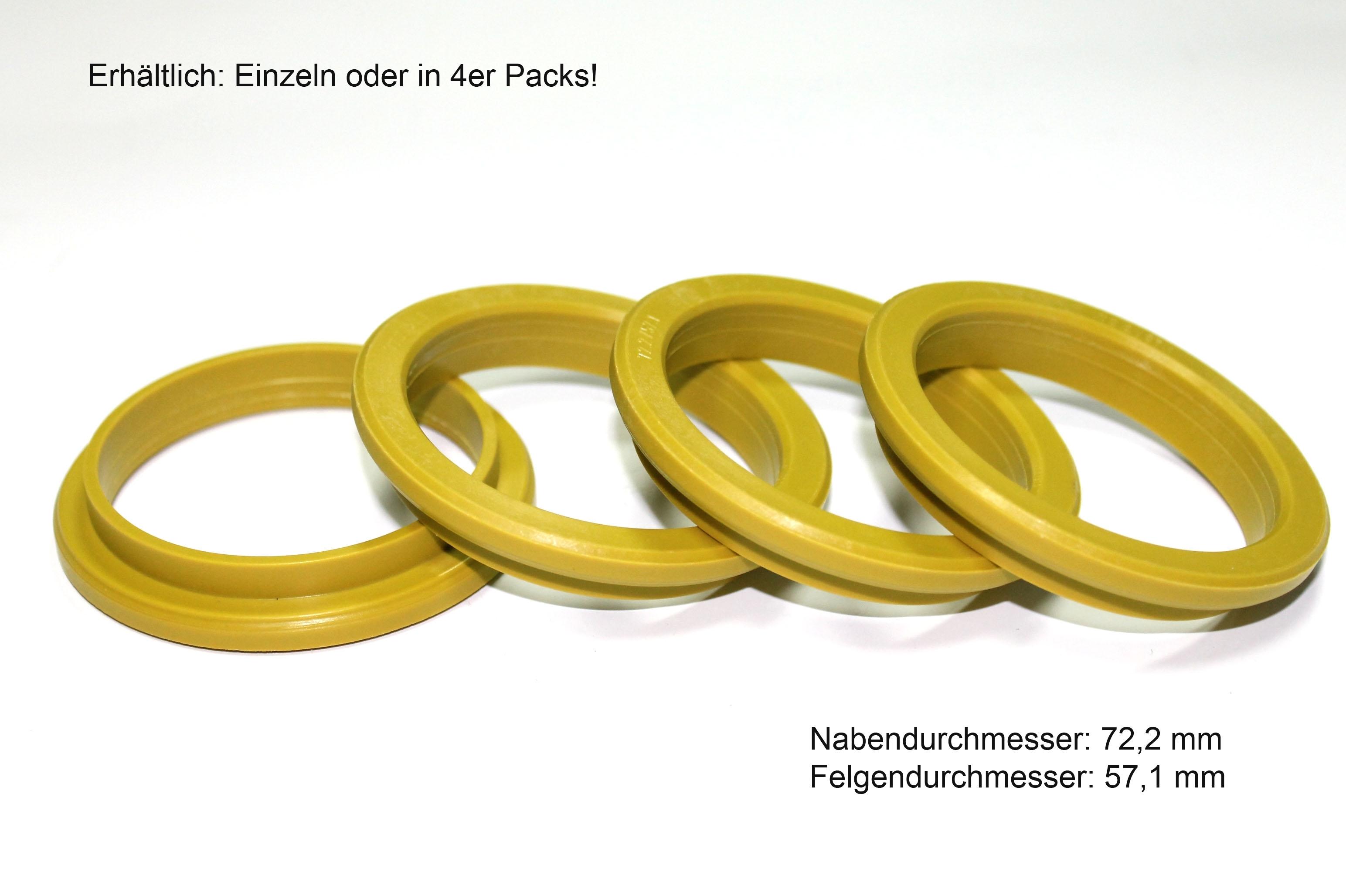 1 x Anello di Centraggio ROSSO 63.4 x 57.1 mm per DEZENT DOTZ Enzo PROLINE Schmidt