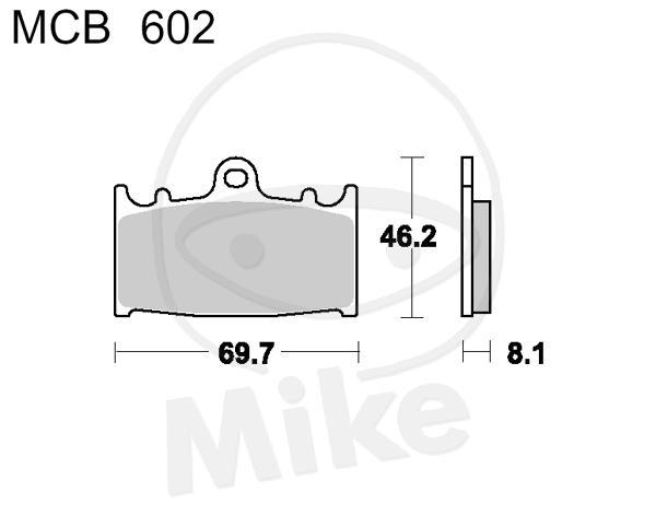 TRW Lucas CRQ brake pads MCB602CRQ front Suzuki GSF 400