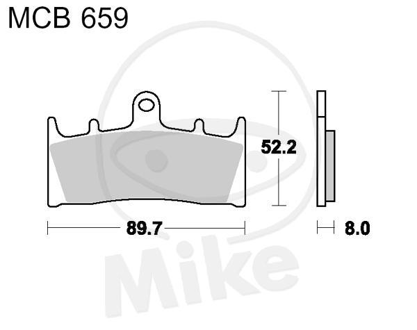TRW Lucas brake pads sintered MCB659SV front Suzuki GSF